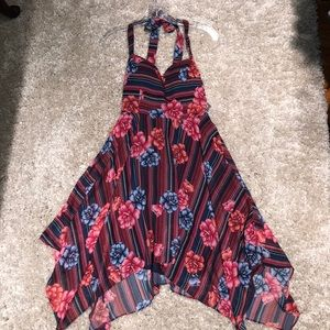 GUESS backless floral dress